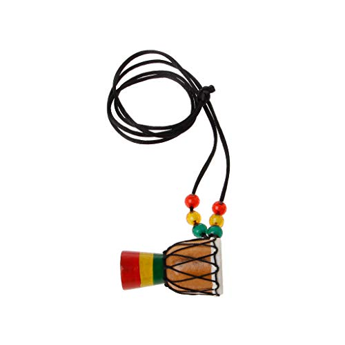 African Drum Necklace Percussion Instrument Accessories Wood Djembe For Kids