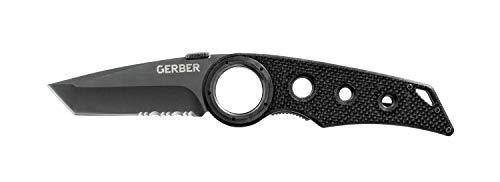 Gerber Taschenklappmesser mit Taschenclip, Klingenlänge: 7,6 cm, Remix Tactical Folding Knife, Schwarz, 31-003641