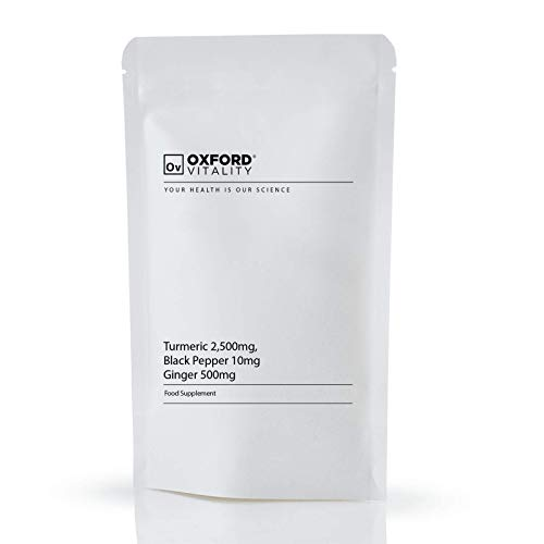 Turmeric 2,500mg, Black Pepper 10mg & Ginger 500mg Tablets : Curcumin Piperine (365)