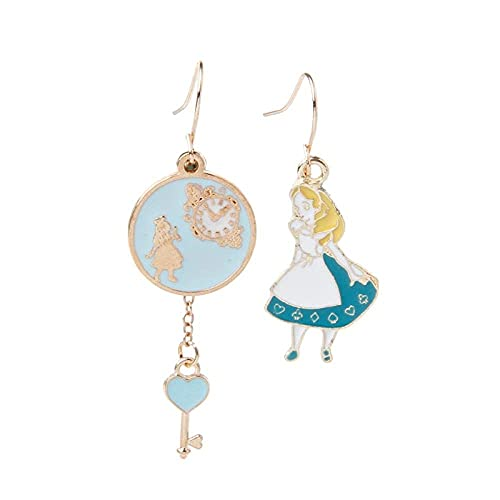 Aretes para niñas, QWEA Lindos aretes colgantes con aretes de dibujos animados con regalos de íconos de fiesta de conejito, adecuados para niñas y mujeres