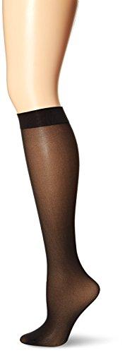 No Nonsense Women's Plus-size Opaque Knee High Value Pack Sockshosiery, -black, Plus - 5 pair pack