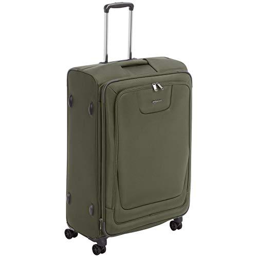 Amazon Basics - Premium-Weichschalen-Trolley mit TSA-Schloss, erweiterbar, 74 cm, Olivgrün
