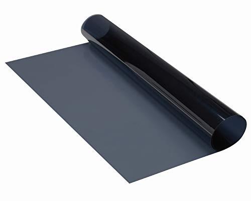 FOLIATEC MIDNIGHT Reflex, Farbe: Superdark (tiefschwarz-metallisiert), Tönungsfolie und Wärmeschutz, Größe: 76 x 300 cm