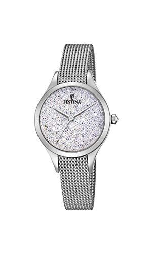 Festina Damen Analog Quarz Uhr mit Edelstahl Armband F20336/1