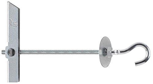 INDEX Fixing Systems BAGAM04 [BA-GA] Basculante por gravedad para la fijación de elementos ligeros en falsos techos/GRAVITEX. Gancho Ø12, M4, diámetro de 12 mm, Set de 50 Piezas