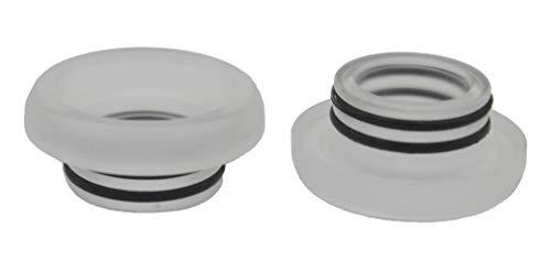 2pcs 810 Flat Drip Tip riutilizzabile materiale acrilico (Bianco)