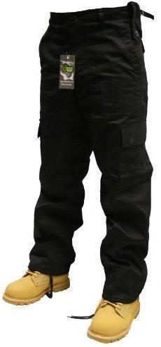 Dallaswear Volwassenen Zwart Combats Cargo Broek Maten 30-50 (34W 32L)