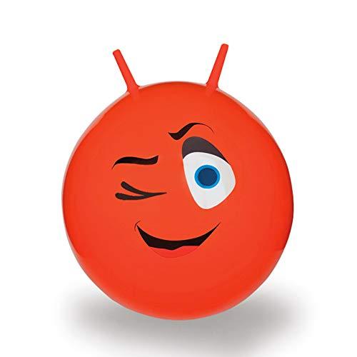 JAMARA 460460 Hüpfball Eye, BPA-Frei, bis 50 kg, fördert den Gleichgewichtssinn und die motorischen Fähigkeiten, robust und widerstandsfähig, pflegeleicht, rot