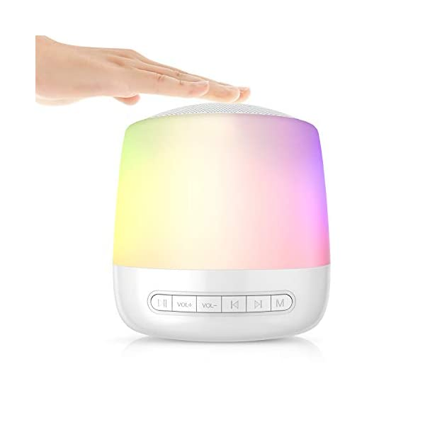 Baby Rest Sound Machine-White Noise Machine for Sleeping with 28 None Looping Sound/Lullaby and 13 Modes Night Light for Kids/Adult/Home/Nursery(1800mAh Battery)