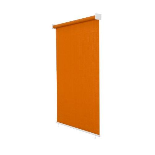 jarolift Außenrollo Senkrechtmarkise 240 x 240 cm (BxH) Orange, Sonnenschutz Sichtschutz für Balkon Terrasse