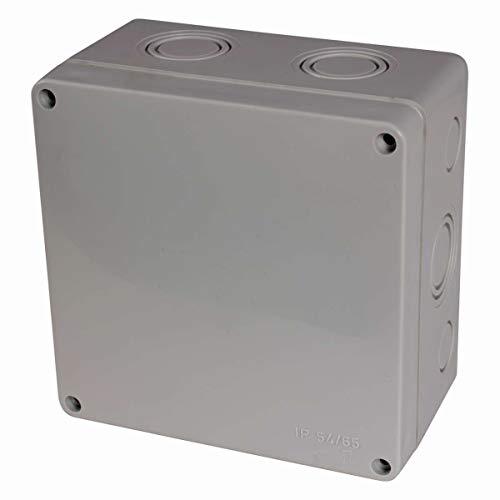 f-tronic Feuchtraum-Abzweigkasten IP65, 110x110x67mm, grau, FK210