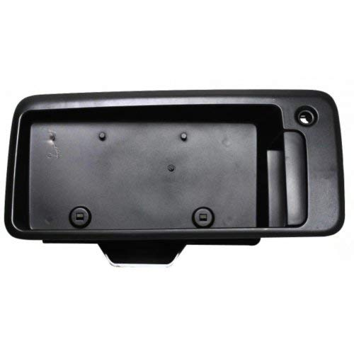 Exterior Door Handle for EXPRESS/SAVANNA VAN 96-07 Rear RH Outside Back Door Textured Black w/License Brac