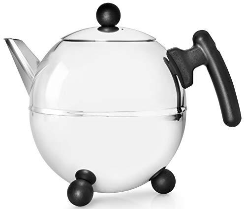 Bredemeijer Teekanne 1,5 L matt schwarz doppelwandig Duet Bella Ronde