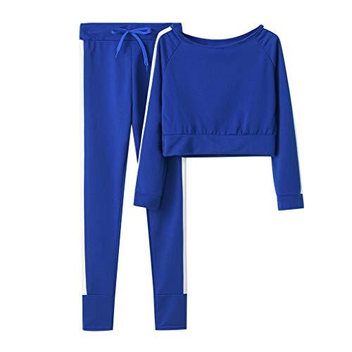 BXzhiri - Conjunto deportivo para mujer, sudadera con capucha y pantalones, color sólido, sudadera con capucha y pantalón