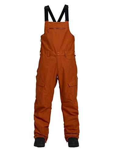 Burton Herren Reserve Bib Snowboard Hose, Adobe rot, M