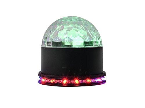 Eurolite LED BCW-4 Strahleneffekt | Kompakter Spiegelkugel-Effekt mit leuchtender Kugel und LED-Kranz | Discokugel/Spiegelkugel | Klein, kompakt und Leistungsstark | Lichteffekt für Partyräume