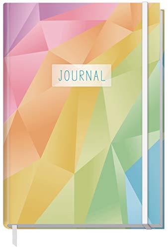 Bullet Journal dotted A5 mit Gummiband [Rainbow] 156 Seiten   Notizbuch gepunktet, Tagebuch von Trendstuff by Häfft   nachhaltig & klimaneutral
