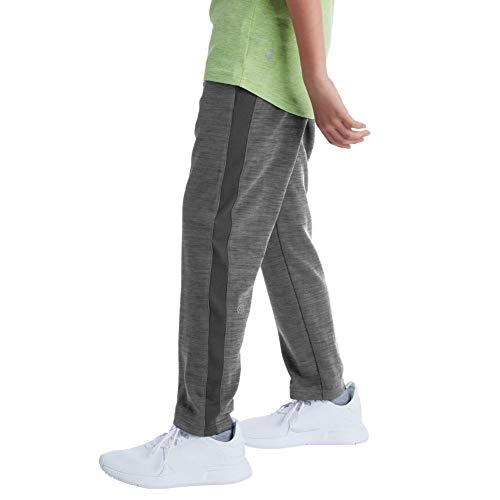 C9 Champion Boys' Open Leg Knit Pants, Railroad Gray Heather, XL