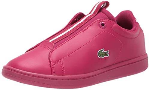 Lacoste Kids 's Carnaby EVO Zapato, Dark Pink/Off White, 10 MX Niñito