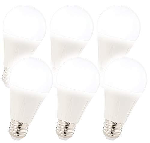 Luminea Glühbirne: 6er-Set LED-Lampe E27, Klasse A+, 12 W, tageslichtweiß 6400K (LED-Lampen kaltweiß E27)