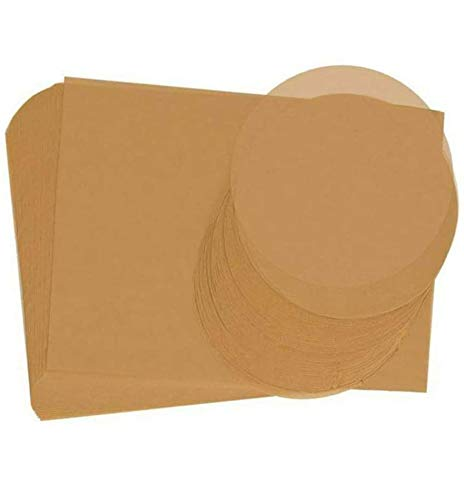200 Pcs Unbleached Baking Parchment Paper Sheets Non-Stick 100 Pcs 12x16 Inches Rectangle and 100 Pcs 9 Inches Round Baking Sheets Precut for Grilling Air Fryer Steaming Bread Cake Cookie