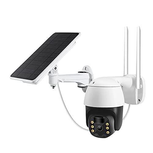 OCYE Cámaras para Exteriores para Seguridad En El Hogar Batería Inalámbrica Solar, Resolución 1080 HD, con 2 Canales De Audio, Advertencia De Seguimiento Y Función De Visión Nocturna