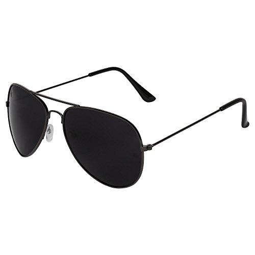 Opticalskart Gafas de sol de aviador de plástico gris y negro
