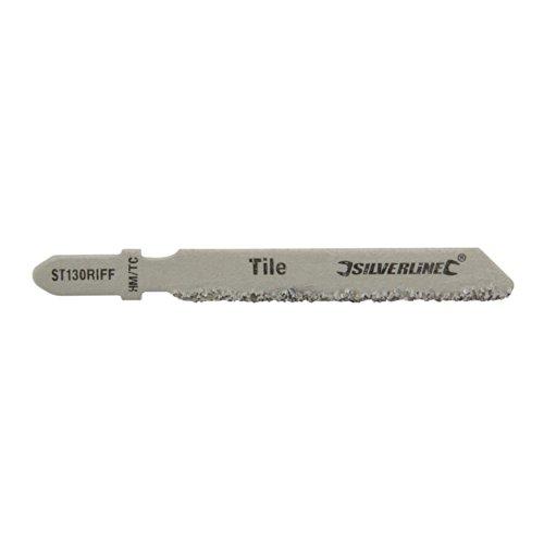 Silverline 228749 Stichsägeblätter für Keramik, 3er-Pckg. ST130 RIFF