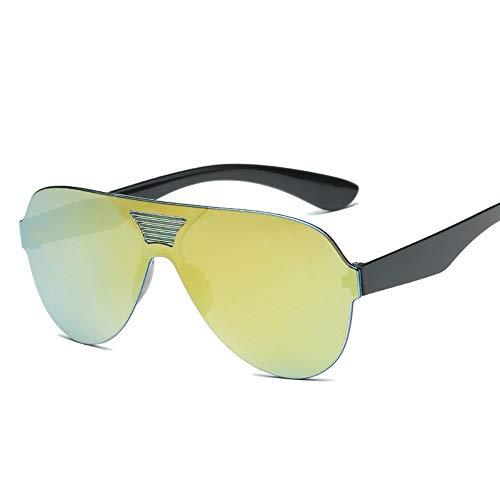 MOJINGYAN Zonnebrillen,2019 Een Stuk Klassieke Zonnebril Vrouwen Mannen Snoepjes Kleur Rijden Zonnebrillen Retro Zwart Goud