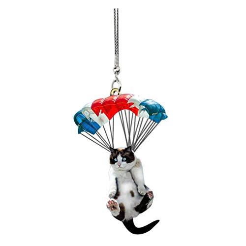 Colgado gato volador colgante coche mochila bolsa llavero colgante adornos lindo gatito decoración del hogar regalo
