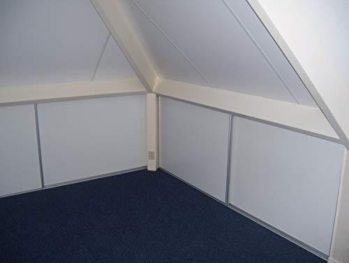 Bausatz für 3 Schiebetüren, für Dachschrägen und Schränke