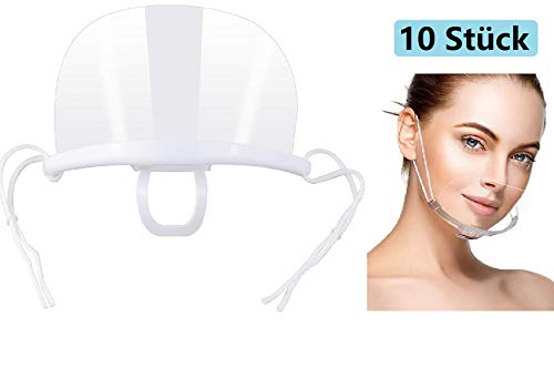 Anti-Fog Visier 10 Stück Safety Transparent Face Shield für Chef Snack Bar Kitchen Restaurant