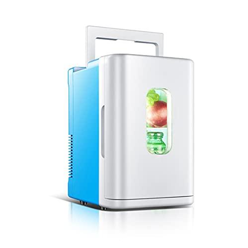 Mini Frigorífico Portátil Multifunción Para El Hogar, Coche, 10L De Alta Capacidad, Compatibilidad Con Alimentación De CA + CC, Para El Cuidado De La Piel, Dormitorio, Coche,Azul