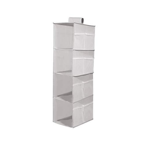 Caja de almacenamiento de ropa interior, bolsa colgante de almacenamiento plegable puede colgar ropa interior calcetines armario de almacenamiento bufanda armario A-3