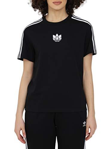 adidas Loose Tee T-Shirt, Black, 44 Donna