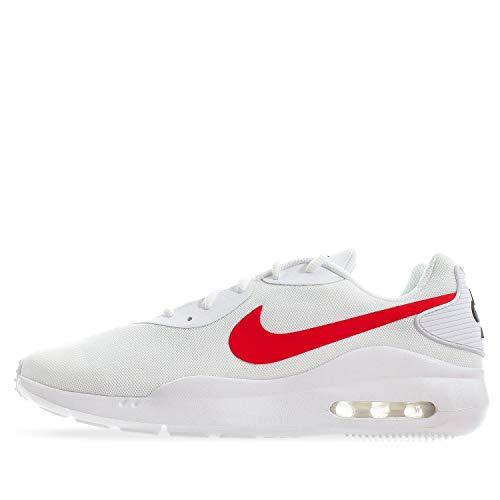 Nike Air Max Oketo Sneaker, White/University red-Black, 11 Regular US