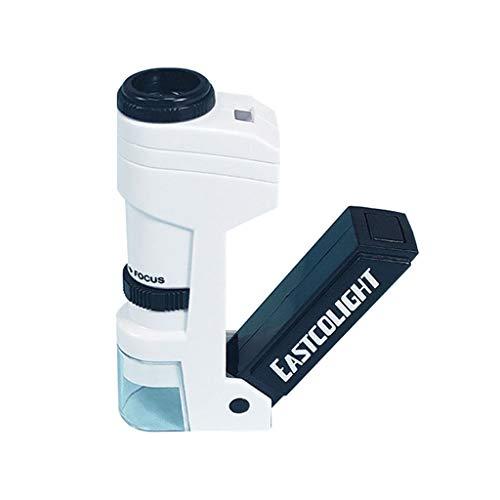 Hörsein 50x Lupa de Gran Aumento microscopio de Bolsillo portátil de Mano, Mini joyería Antigua identificación microscopio