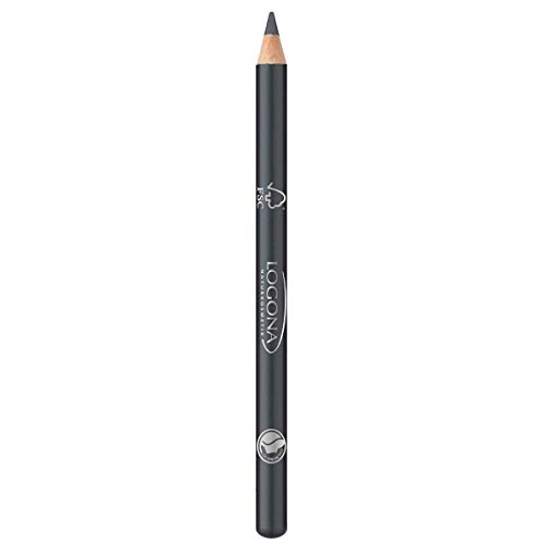 LOGONA Naturkosmetik Eyeliner Pencil No. 03 Granite, Eyelinerstift, Klassischer Kajalstift, Natural Make-up, angenehme Textur mit Anti-Aging-Wirkung, Vegan, 1.14g