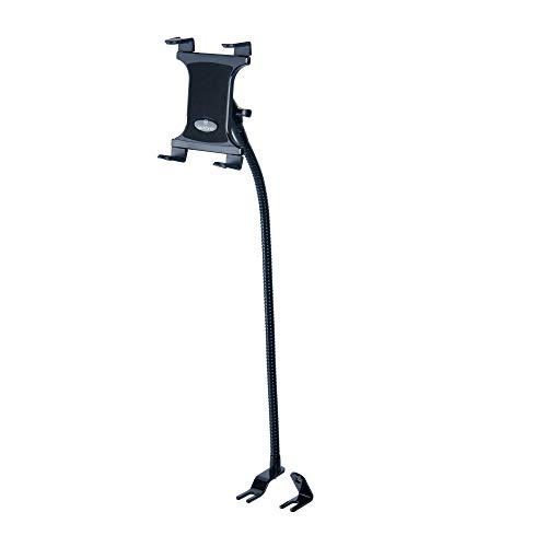 Tackform Gooseneck Tablet Mount for Car and Truck [Commuter Series] Industrial 28 Inch Steel Coil Gooseneck Seat Rail Device Holder for Taxi, Van, Vehicle. Supports iPad, Galaxy, Surface Pro