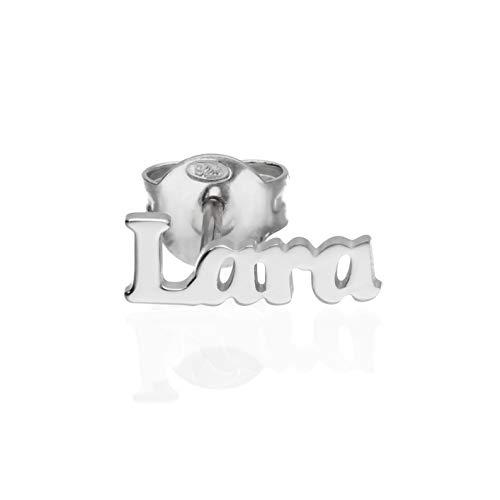 Mono orecchino con nome in argento 925 ‰ L (Lara)