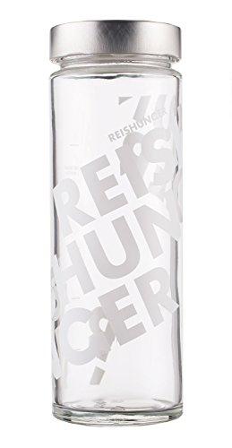 Reishunger Reisglas, 4 Aufbewahrungsgläser für je 600g Reis, massives Glas, mit Skala zum Abmessen [als 1er und 4er Packung erhältlich]