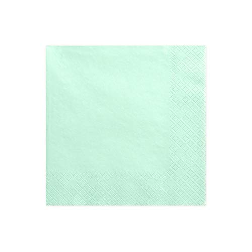 Napkins 3 layers mint 33x33cm (1 pkt / 20 pc.)