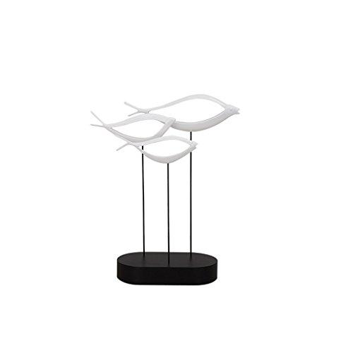Moderne Simple Chanceux Poisson Poisson Résine Sculpture Décoration Artisanat Creative Salon TV Accueil Cadeaux Artisanat Ornements GAOLILI (Size : A)