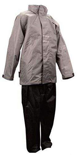 Ralka Regenanzug Junior Regenjacke + Regenhose (128  grau-schwarz)