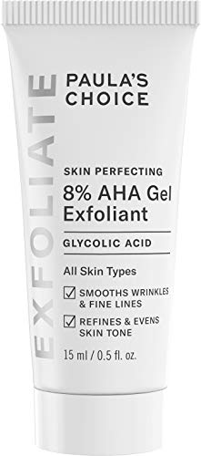 Paula's Choice SKIN PERFECTING 8% AHA Gel Exfoliant with Glycolic Acid Soothing Chamomile & Green Tea, Travel Size Leave-On Gentle Exfoliator.5 oz