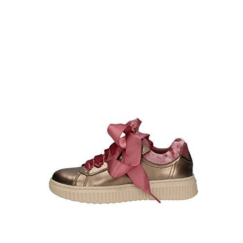 Geox J Discomix B, Sneaker Infilare Bambina, Oro (Lead C9003), 31 EU