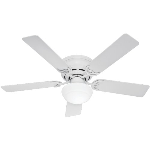 Hunter Indoor Low Profile III Plus Ceiling Fan with Light...