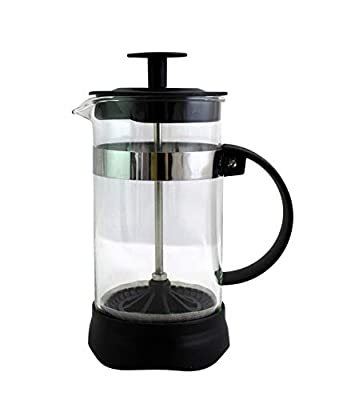 Brew Fresh French Press Coffee & Tea Brewer 12 Ounce Compact Single Cup