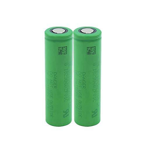 ahjs457 2 uds Gran Oferta EE. UU. 18650 VTC5 batería Recargable de Litio Superior Plana Verde 2600 MAH Descarga 30MAX Linterna Celular para Linterna