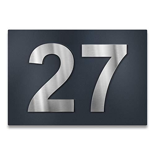 Metzler color antracita acero inoxidable 100/% inoxidable N/úmero de casa en 3D